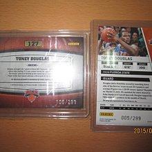 網拍讀賣~Toney Douglas~溜馬隊球星~新人限量簽名卡/299~~普特卡~共2張~750元~輕鬆付~非常少見~