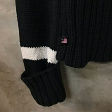 Polo Jeans Co. 純棉針織上衣 女s 黑白條紋 polo Ralph Lauren 胸寬44 全長66