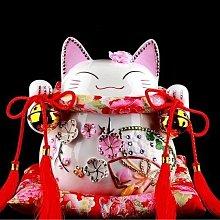 日本道樂堂 招財貓 鑽石大花季 大型陶瓷擺飾 證卷送禮 開業禮品 新居落成 發財貓 現貨