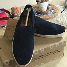 全新正品TOMS麂皮懶人鞋~海軍藍~7號