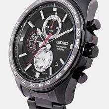 【金台鐘錶】SEIKO 精工 黑武士 競速 三眼 運動計時腕錶 SSB283  SSB283P1