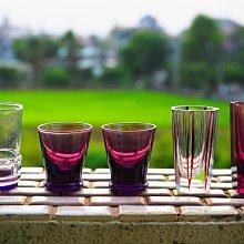日本老酒杯、切子、切花、氣泡玻璃 5個一組(組合2)