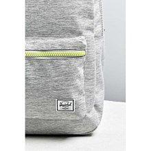 Herschel Settlement 淺灰 灰色 螢光 塑膠拉鍊 帆布 防潑水 筆電夾層 大容量 後背包 [現貨]
