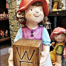 【現貨實拍】鄉村風童趣帽子welcome歡迎光臨男孩女孩波麗娃娃一對|86cm高|居家庭院擺飾 。花蓮宇軒家飾家具。