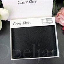 美國官網 CK Calvin Klein 卡文克萊防刮真皮中夾短夾皮夾ID抽取式禮盒裝 真品 免運費 黑色
