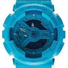 【美國鞋校】現貨 CASIO G-Shock GMA-S110CC-2A 手錶 果凍 水藍 GMA-S110CC