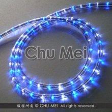 220V-藍白光LED三線非霓虹燈50米 - led 燈條 彩虹管 圓三線 非霓虹 水管燈 聖誕燈 管燈 條燈 裝飾燈