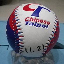 棒球天地--賣場唯一---全世界最有魅力的女人陳文茜簽名新版國旗浮雕球2010-11-21..字跡漂亮