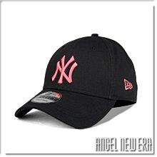 【ANGEL NEW ERA】NEW ERA MLB NY 紐約 洋基 經典黑 粉紅字 老帽 9FORTY 鴨舌帽