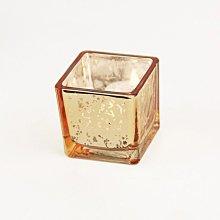 熱銷#歐式金色斑點方杯玻璃燭臺INS家居網紅裝飾擺設浪漫燭光DIY燭杯#燭臺#裝飾