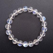 ☆采鑫天然寶石☆ **藍悅**頂級冰透藍色月光石(Moon Stone)手鍊~波光瀅瀅~8.5mm玻璃體