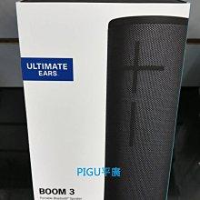 平廣 UE BOOM 3 黑色 藍芽喇叭 公司貨保 羅技 Logitech Ultimate Ears 另售WONDER