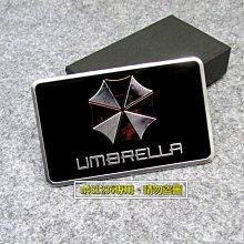 UMBRELLA 保護傘 黑色 懷舊款 鋁合金 拉絲 金屬 車貼 尾門貼 車身貼 裝飾貼 烤漆工藝 立體刻印 強力背膠