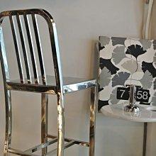 【 一張椅子 】 navy chair 黃金鐵男 天王御用款 金屬工業風吧椅