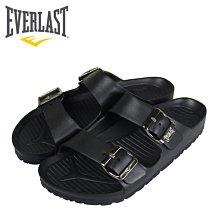 【橘子包包館】EVERLAST AB拖 戶外休閒拖鞋 4025220126 黑色 男女款 拖鞋