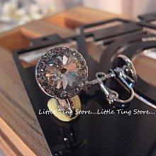 MIT台灣製造婚禮晚宴 施華洛世奇SWAROVSKI衛星石白水鑽單顆鑽螺旋耳環夾式耳環貼耳飾