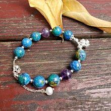 《福利售》↘️藍銅礦 紫水晶手珠 手鍊 飾品 手飾