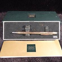 古玩軒~鋼珠筆.高仕 新世紀10K鋼珠筆.CROSS SINCE1846 1/20 10KT ROLLED GOLD