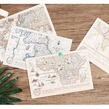 盒裝明信片包郵 孤獨巡遊地圖 復古創意明信片懷舊航海郵戳賀卡 FKGW步步高升生活館&價格以咨詢客服後為準