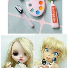 芭比娃娃 食玩 娃娃屋 迷你 牙刷 牙膏 立體模型 配件 玩具 袖珍 家具 家家酒 小布 莉卡