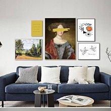 C - R - A - Z - Y - T - O - W - N 文藝復古裝飾畫宮廷歐式壁畫古典北歐組合掛畫人像人物畫