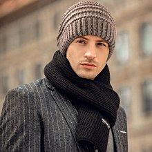 橫織紋針織雙層圓帽 Q946-4 秋冬造型保暖 卡其偏淺咖款 帽子專賣店