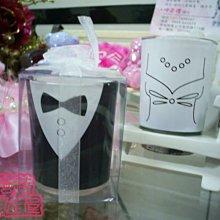 獨家首賣~蓓蓓結婚禮品屋~歐美婚禮蠟燭~新郎新娘禮服馬克杯蠟燭~婚禮小物/婚禮佈置~^0^