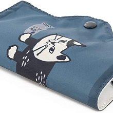 《散步生活雜貨》 日本進口 NEKOMARUKE 貓咪圖案 防疫 隨身攜帶 口罩保護套 收納套-藍20-0016