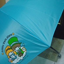 Little Twin Stars藍色雙子星Kiki Lala 直傘彎鉤手把晴雨傘 ~全新品