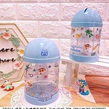 ♥小花花日本精品♥蠟筆小新鋼達姆機器人睡衣造型藍色綠色旋轉零錢存錢筒~5