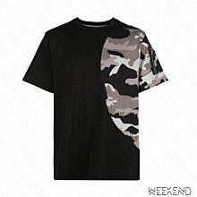 【WEEKEND】 MOSTLT HEARD RARELY SEEN MHRS 拼接 袖子拉鍊 短袖 T恤 迷彩 黑色