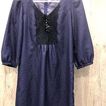 專櫃紫色造型長版衣