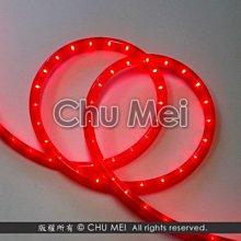 220V-紅色外皮LED二線3528水管燈50米 - led燈條 燈條 圓二線 非霓虹 led 水管燈 管燈 軟條燈