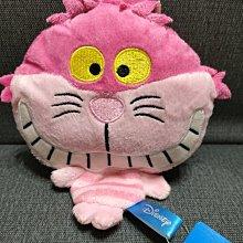 [絕版收藏]DISNEY正版授權非賣景品--愛麗絲[妙妙貓]絨毛玩偶口金包,附掛繩