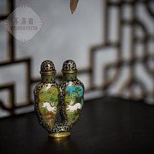 包老 包真  清代景泰藍連體鼻煙壺老物件古玩古董收藏真品掐絲琺瑯鼻煙壺把件