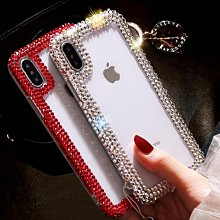 奢華水鑽殼 iPhone 6/7/8 4.7吋/plus 5.5吋 鑲鑽 矽膠軟殼 手工 貼鑽 水鑽 手機殼 送水晶掛繩