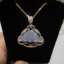 老嫗的收藏來天然A貨翡翠粉紫蝙蝠 福氣到天然鑽石 18玫瑰K金設計款滿鑽 大特價39500 收收成本回來喔!