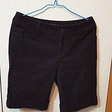 近全新,日系品牌CLEAR IMPRESSION絨布黑色短褲3號