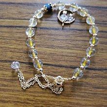 《福利售推薦》↘️黃水晶配件設計飾品 手鍊 手飾 天然手珠