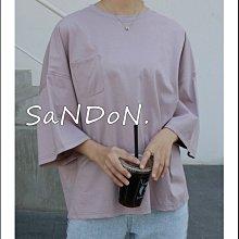  SNADON 早春韓國製造 落肩設計小口袋五分袖側邊小開叉藏肉單品廓型短tee guapa 韓妮 200312