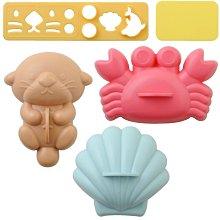 正版日本Arnest 螃蟹 海獅 貝殼飯模