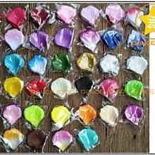 【星星】P16#~仿真玫瑰花瓣~手拋花瓣~撒床假花瓣~絹布100片裝/包~31色可選~婚慶婚禮會場佈置~大量現貨