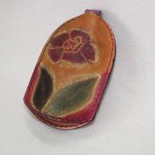 皮革雕花 紅花綠葉鑰匙圈 鑰匙套 鑰匙包 佰渡工坊-臺中市愛無礙協會