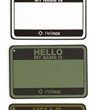 【台灣現貨】Helinox  Hello My Name Is 姓名布章 魔鬼氈(含掛鍊)