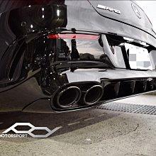賓士 Benz w118 CLA45 後下擾流+四出尾管