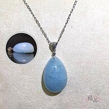 海藍寶石蛋面墜✨