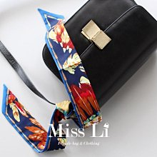 Miss Li【SC-S10】巴西羽毛 包包絲巾/Twilly手把綁巾/手環/髮帶/領巾/生日禮物首選