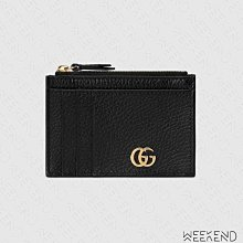 【WEEKEND】 GUCCI GG Marmont 拉鍊 皮夾 短夾 卡夾 零錢包 黑色 574804