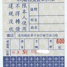 【竹仔城-台中客運公車票】市區自強號學生月票-91.5--600元---已經失效.純收藏