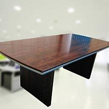 【土城OA辦公家具】   2020漂亮扎實重型船型會議桌 桌面有線條設計  高級款材質好